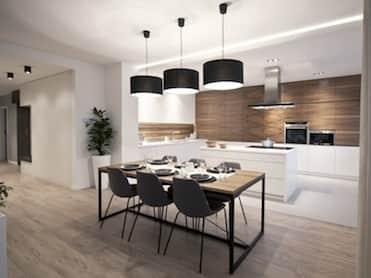 PRZESTRONNY APARTAMENT<br /><span> w którym dominują szarości i nowoczesne meble na wymiar zrealizowany w inwestycji Apartamenty Ludwinów przy ul. Ludwinowskiej 11 w Krakowie</span>